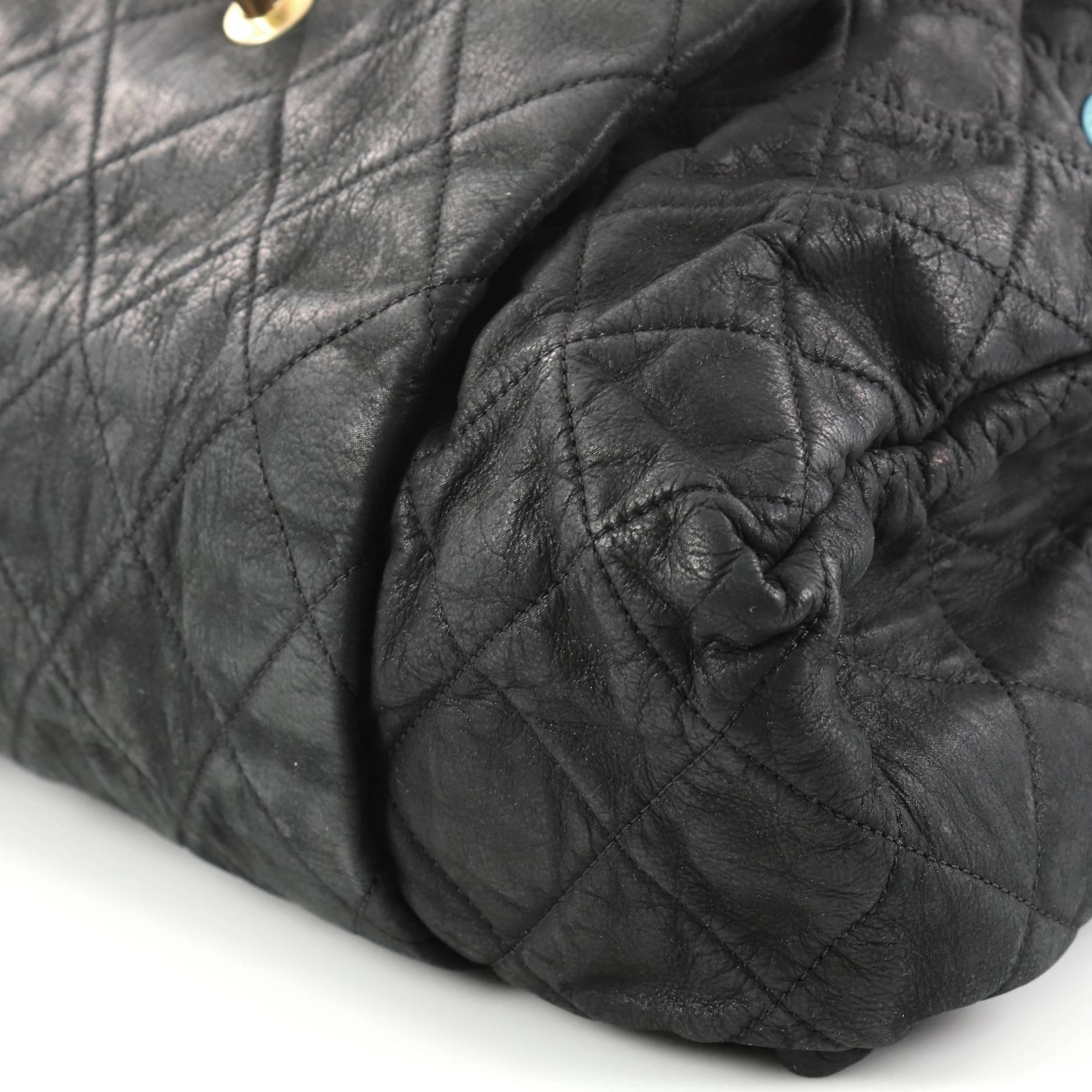2823113ee75e Chanel Chic Quilt Accordion Flap Bag Quilted Iridescent Calfskin Large at  1stdibs