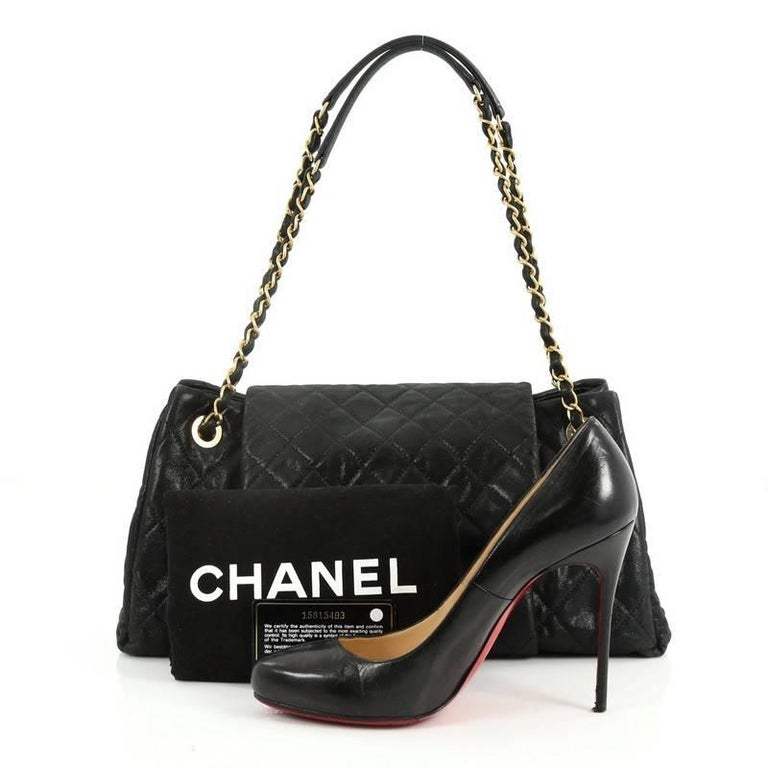 db391f782f59 This authentic Chanel Chic Quilt Accordion Flap Bag Quilted Iridescent  Calfskin Medium is sure to complement