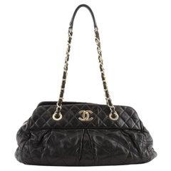 Chanel Chic Quilt Bowling Bag Quilted Iridescent Calfskin Medium