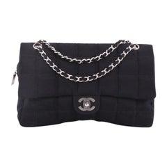 Chanel Chocolate Bar Camera Flap Bag Quilted Nylon Medium