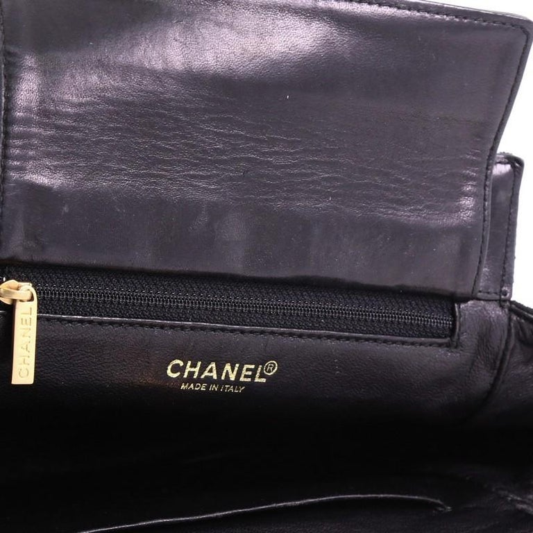 Chanel Chocolate Bar Chain Tote Quilted Canvas Small For Sale 5