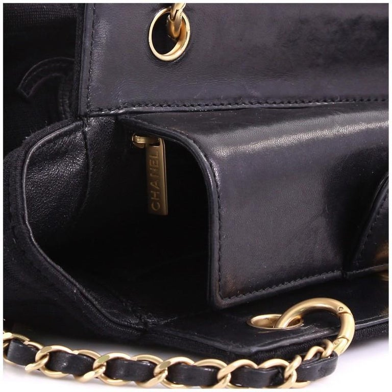 Chanel Chocolate Bar Chain Tote Quilted Canvas Small For Sale 2