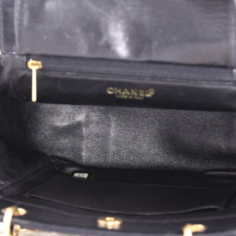 Chanel Chocolate Bar Chain Tote Quilted Canvas Small For Sale 4