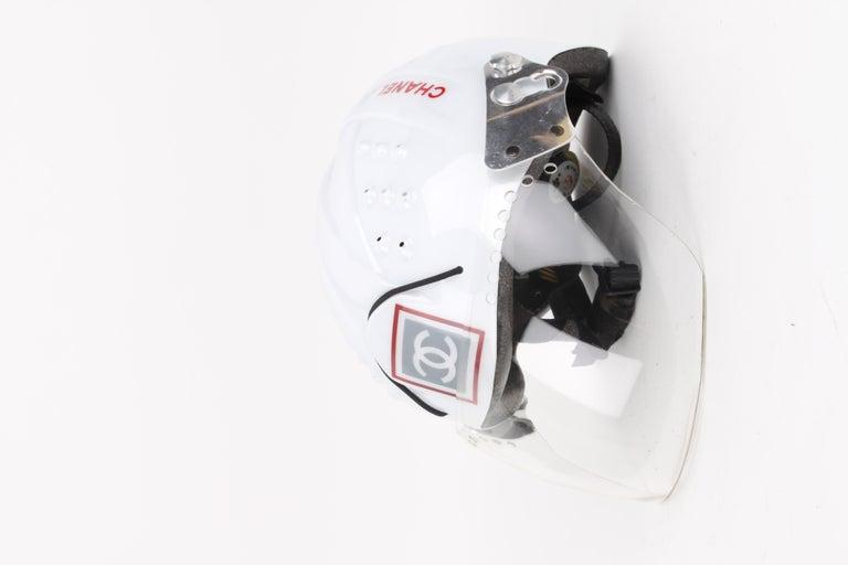 CHANEL circa 1990s Edition Sport Line CC Logo Mountain Climbing Helmet For Sale 1