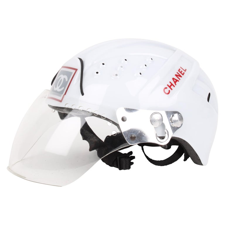 CHANEL circa 1990s Edition Sport Line CC Logo Mountain Climbing Helmet For Sale