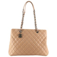 Chanel City Shopping Tote Quilted Caviar Large