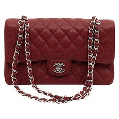 CHANEL Classic 25 Burgundy Leather Bag