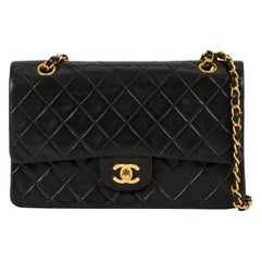 "Chanel Classic Black Double Flap 10""Bag"