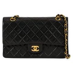 "Chanel Classic Black Double Flap 10""Bag"