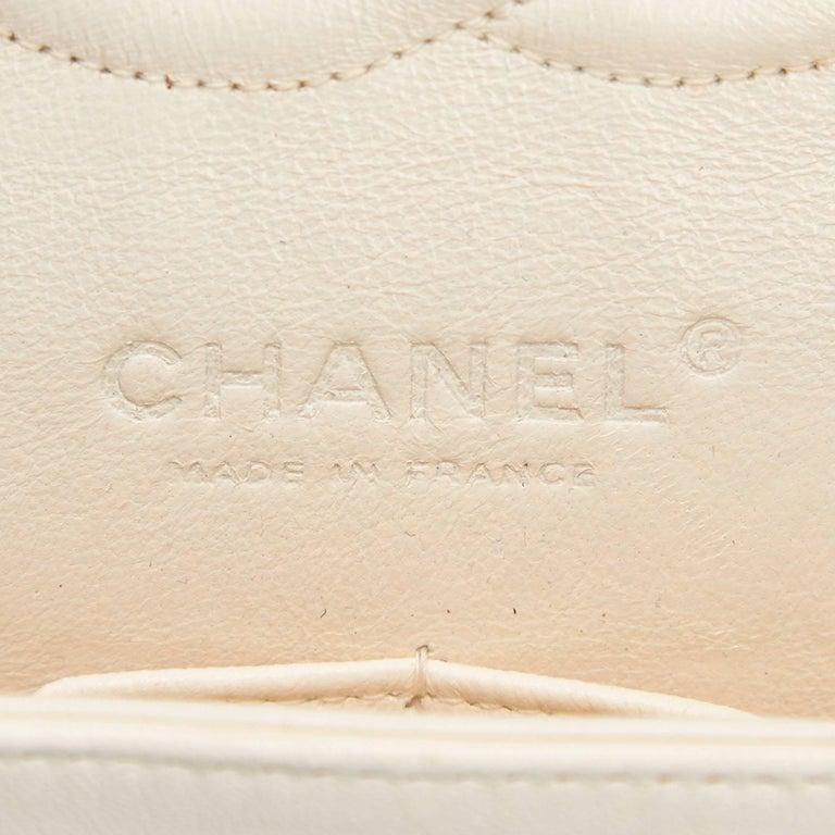 Chanel Classic Black White Grey Cotton Tweed Medium Double Flap Shoulder Bag For Sale 1