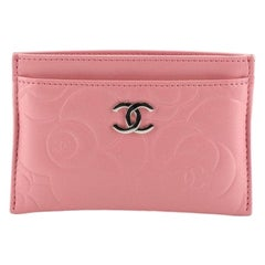 Chanel Classic Card Holder Camellia Lambskin