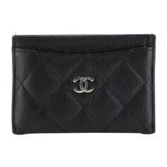Chanel Classic Card Holder Quilted Caviar