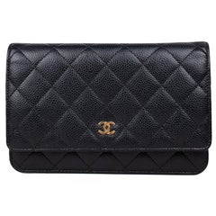 Chanel Classic Caviar Wallet on Chain