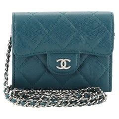 Chanel Classic Clutch with Chain Quilted Caviar Mini