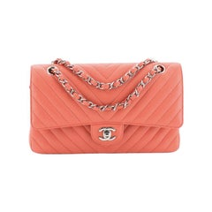 Chanel Classic Double Flap Bag Chevron Caviar Medium