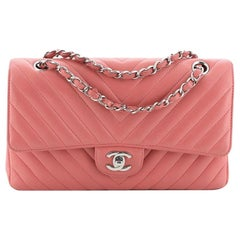 Chanel Classic Double Flap Bag Chevron Lambskin Medium