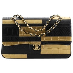 Chanel Classic Double Flap Bag Crocodile and Python Embossed Patchwork