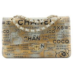 Chanel Classic Double Flap Bag Hand Painted Lambskin Medium