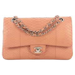 Chanel Classic Double Flap Bag Python Medium