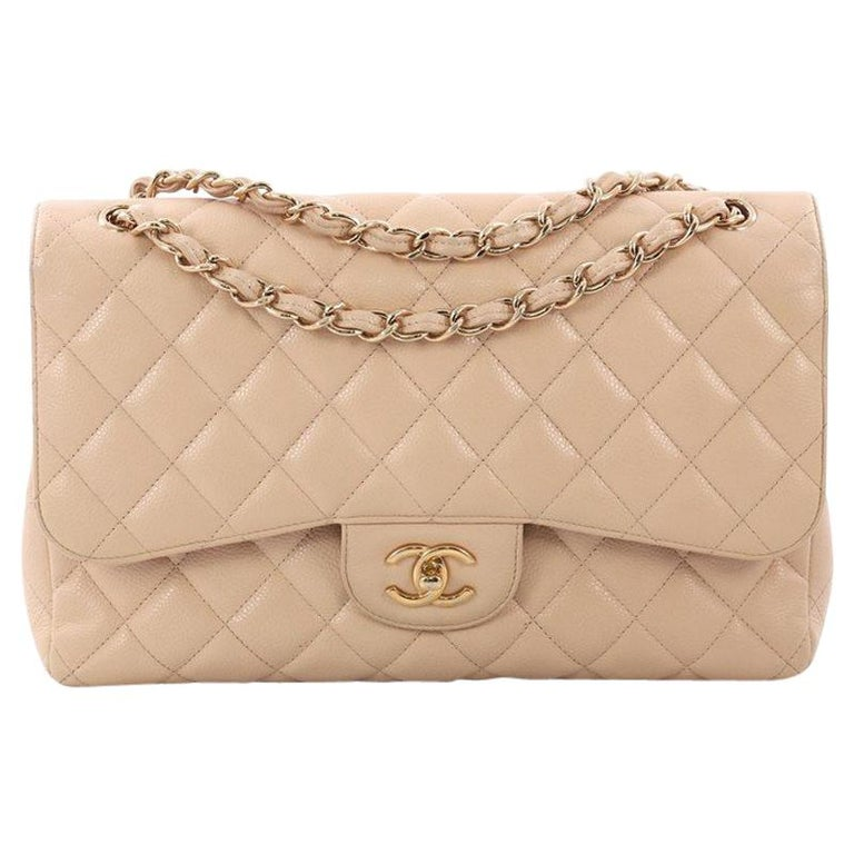 bf1f5a46d3be Chanel Classic Double Flap Bag Quilted Caviar Jumbo For Sale at 1stdibs