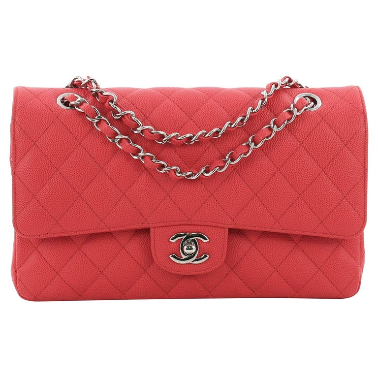4a887a04a9e1e8 Chanel Classic Double Flap Bag Quilted Caviar Medium at 1stdibs