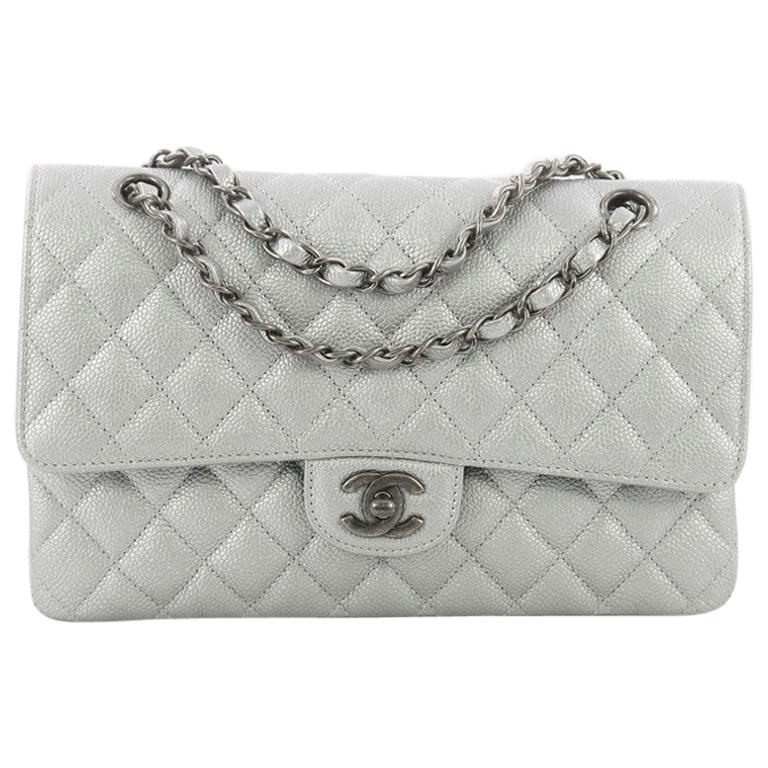 cdb684811280 Chanel Classic Double Flap Bag Quilted Caviar Medium at 1stdibs