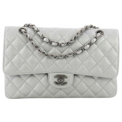 Chanel Classic Double Flap Bag Quilted Caviar Medium