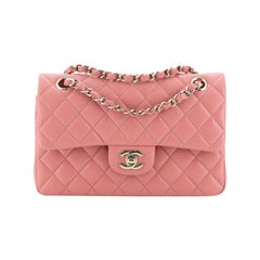 Chanel Classic Double Flap Bag Quilted Caviar Small