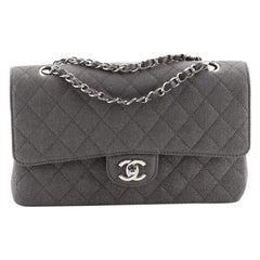 Chanel Classic Double Flap Bag Quilted Glitter Fabric Medium