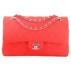 Chanel Classic Double Flap Bag Quilted Jersey Medium