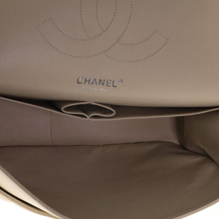 Chanel Classic Double Flap Bag Quilted Lambskin Jumbo For Sale 1