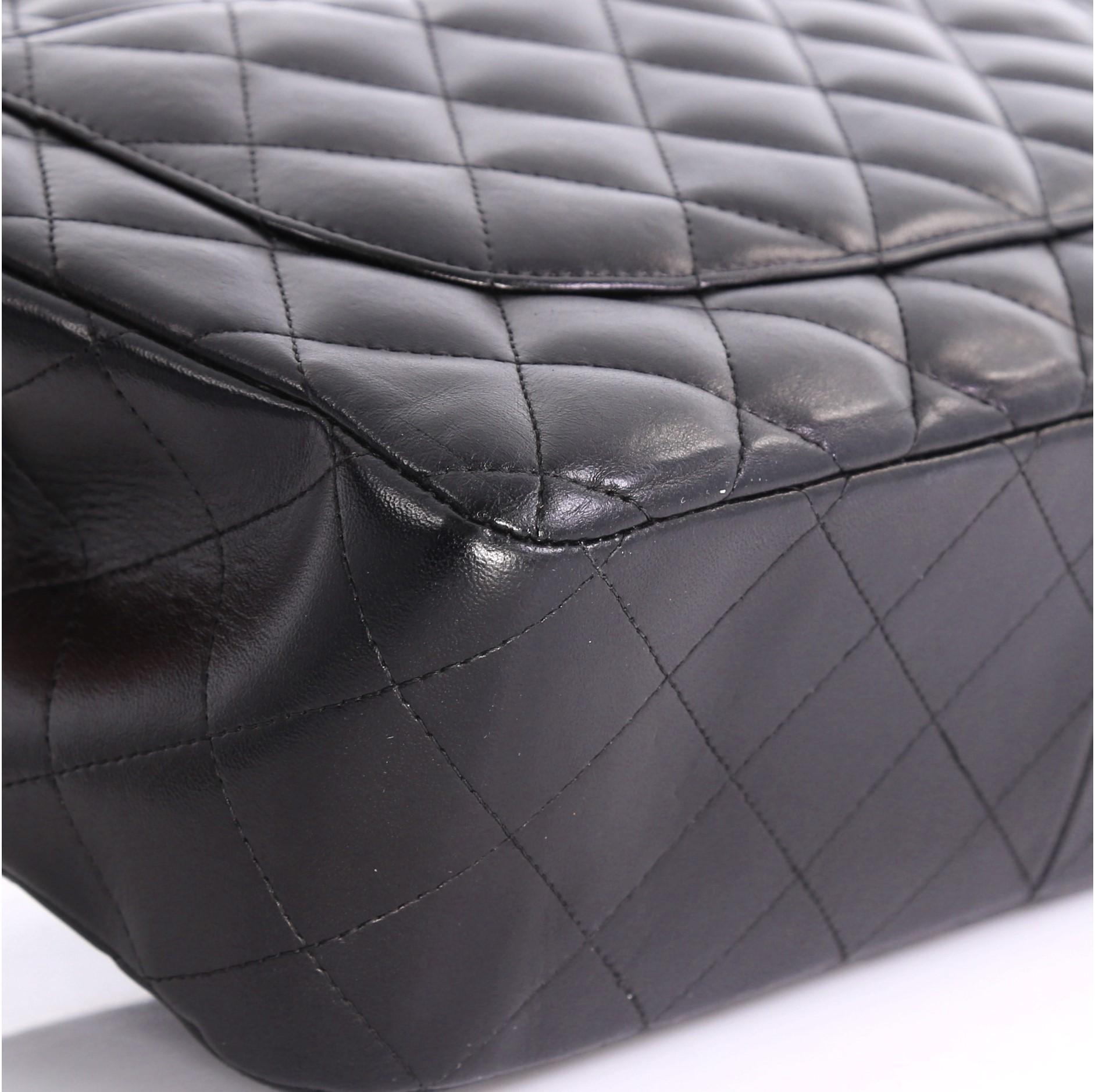 82e6b2adf6ae Chanel Classic Double Flap Bag Quilted Lambskin Jumbo at 1stdibs