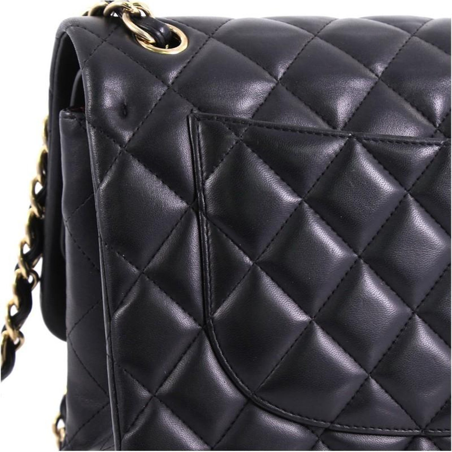 aaa94ecfbc6e Chanel Classic Double Flap Bag Quilted Lambskin Jumbo For Sale at 1stdibs
