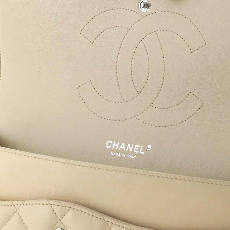 Chanel Classic Double Flap Bag Quilted Lambskin Jumbo For Sale 4
