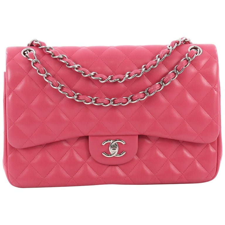 190a8ca8a2ea87 Chanel Classic Double Flap Bag Quilted Lambskin Jumbo at 1stdibs