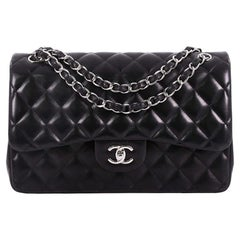 Chanel Classic Double Flap Bag Quilted Lambskin Jumbo