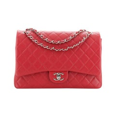 Chanel Classic Double Flap Bag Quilted Lambskin Maxi