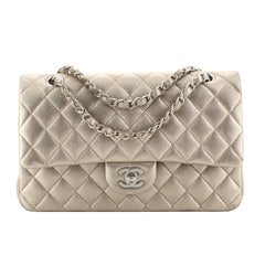 Chanel Classic Double Flap Bag Quilted Metallic Lambskin Medium