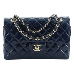 Chanel Classic Double Flap Bag Quilted Patent Small