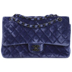 Chanel Classic Double Flap Bag Quilted Velvet Medium