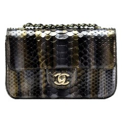 Chanel Ombré Python Exotic Snakeskin Rare Classic Flap