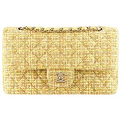 Chanel Classic Flap 2.55 Reissue Fall 2014/15 Yellow Tweed Shoulder Bag