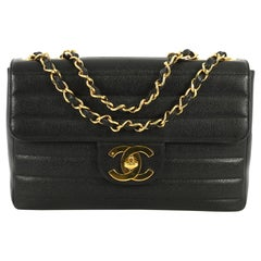 Chanel Classic Flap Bag Horizontal Quilted Caviar Jumbo