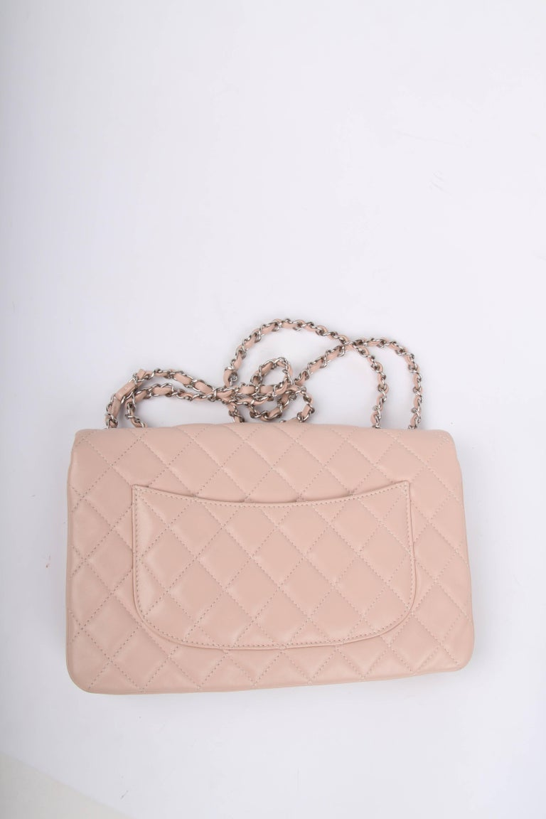Chanel Classic Flap Bag Jumbo 3 - dusty pink In Excellent Condition For Sale In Baarn, NL