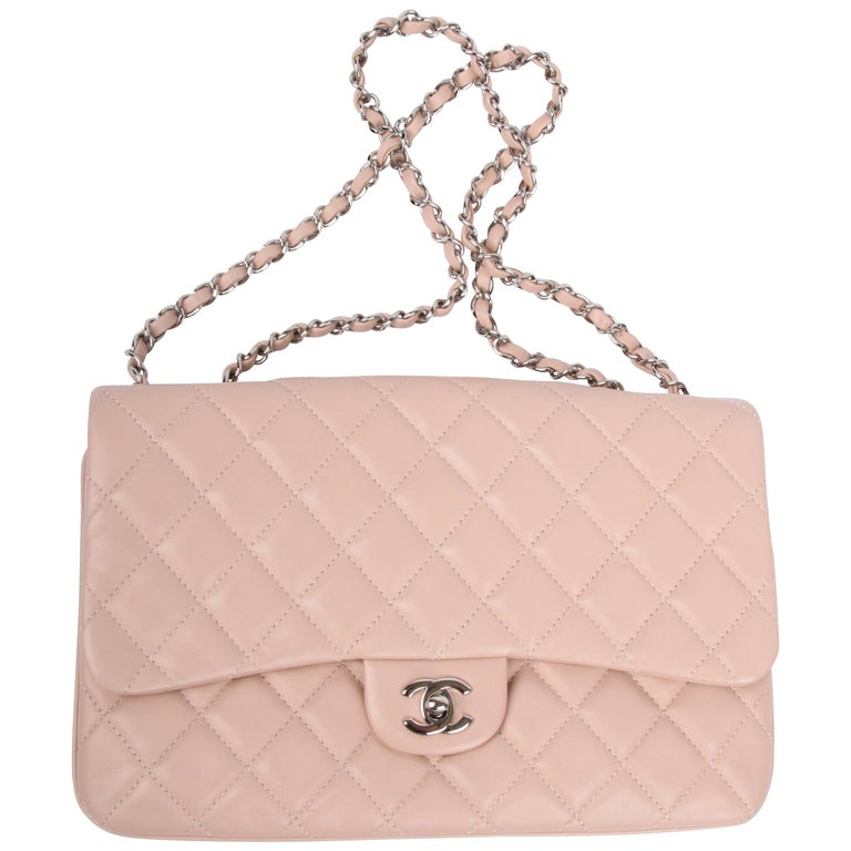 Chanel Classic Flap Bag Jumbo 3 - dusty pink For Sale