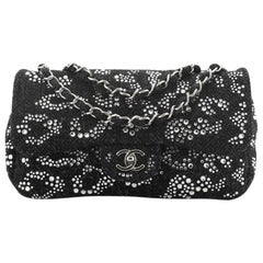 Chanel Classic Flap Bag Strass Embellished Tweed Medium