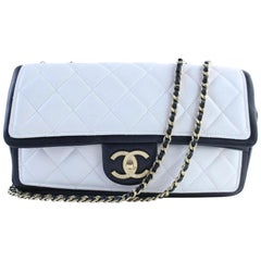 Chanel Classic Flap Bicolor Jumbo 226011 Black X White Leather Shoulder Bag