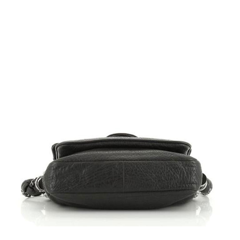 Women's or Men's Chanel Classic Flap Braid Quilted Small Black Distressed Lambskin Shoulder Bag For Sale