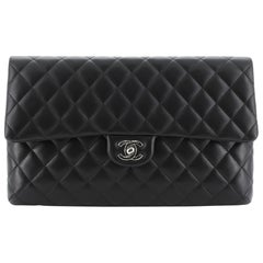 Chanel Classic Flap Clutch Quilted Lambskin