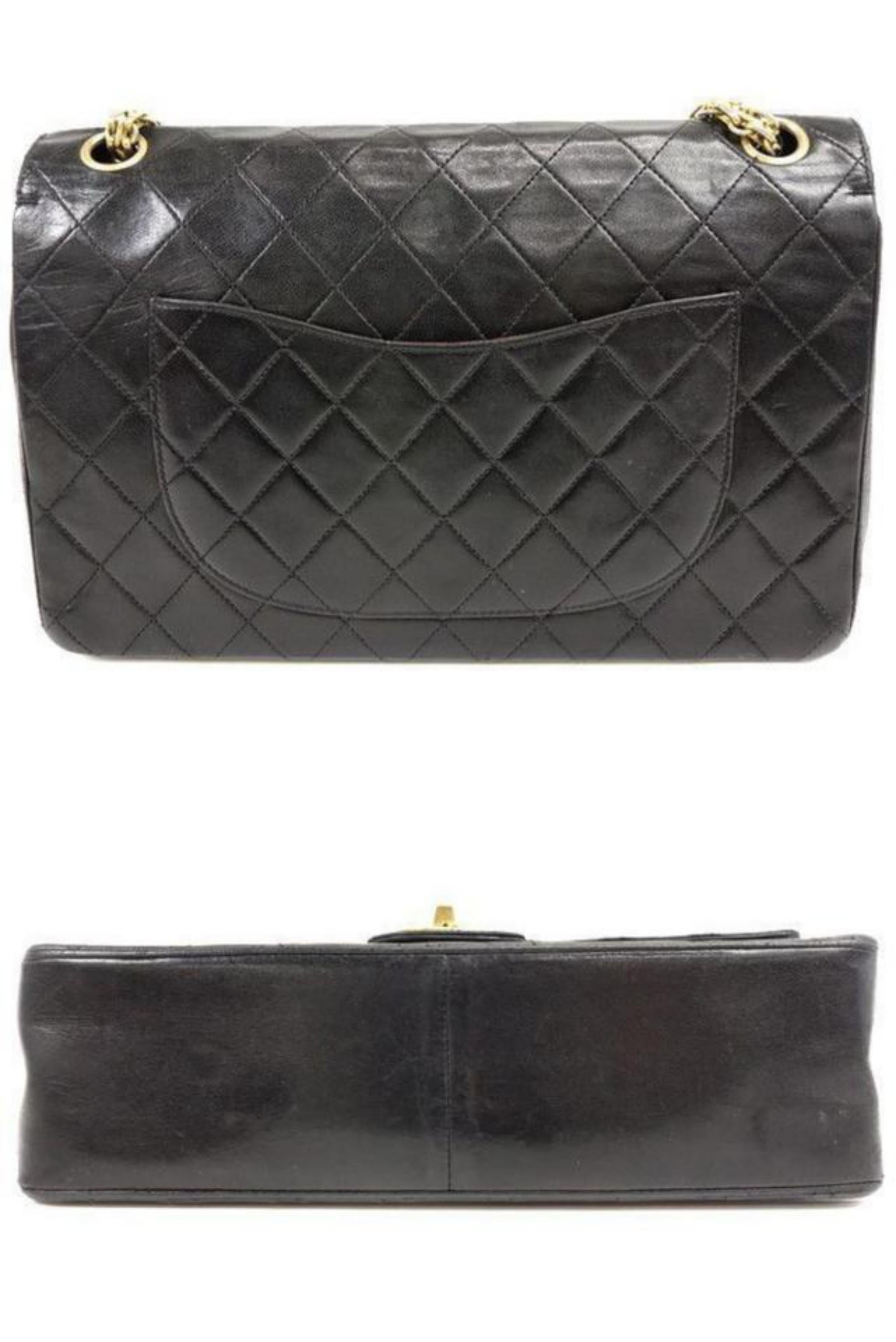 0616fca37dc6 Chanel Classic Flap Mademoiselle Medium Quilted Lambskin 234110 Black  Leather Sh For Sale at 1stdibs